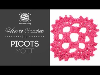How to Crochet the Picots Motif