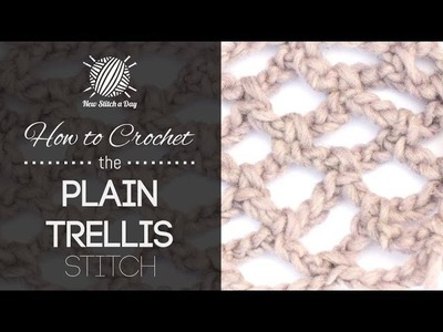 How to Crochet the Plain Trellis Stitch