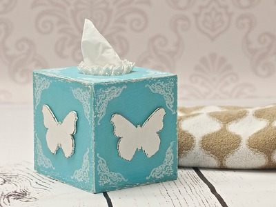 How to decorate a tissue box - decoupage DIY