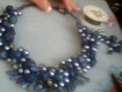 How to embellish your wire crochet necklace Part 1