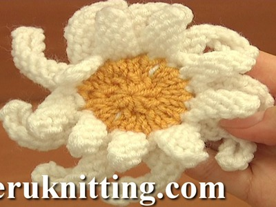 How to Knit a Double Layered Daisy Flower Tutorial 16 Knitting Flower Patterns