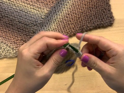 How to Knit a Scarf -- On the Bias Pattern