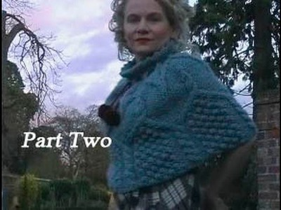 HOW TO KNIT AN ARAN CAPELET OR PONCHO - Free Cabled Poncho Knitting Pattern Tutorial Part 2 of 3