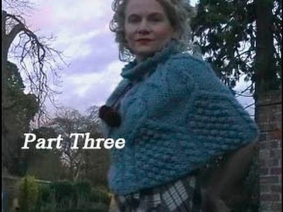 HOW TO KNIT AN ARAN CAPELET or PONCHO - Free Cabled Poncho Knitting Pattern Tutorial Part 3 of 3