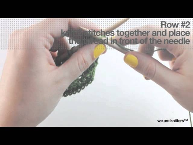 How to knit eyelet stitch | We Are Knitters