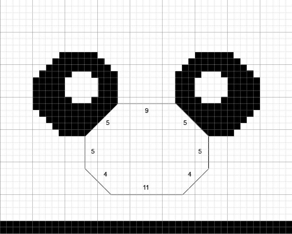 How to Knit Panda Hat Step by Step Tutorials (Part 3: The Eyes)