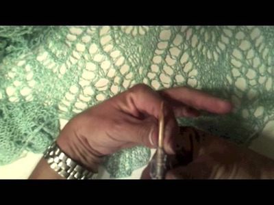 How to Knit Short Row Scalloped Edging for Lace Cape