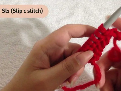 How to Knit Sl1, K2tog, Psso step-by-step Tutorials