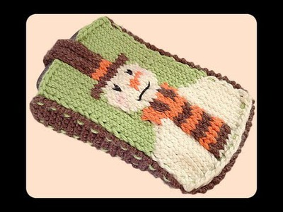 How to Knit Snowman Mobile Phone Cover Case (Part 1)
