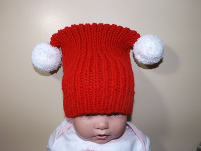 How to Knit Square Christmas Hat