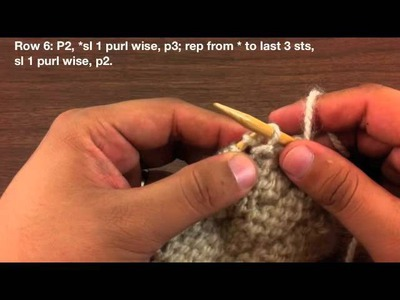 How to Knit the Brick Stitch (English Style)