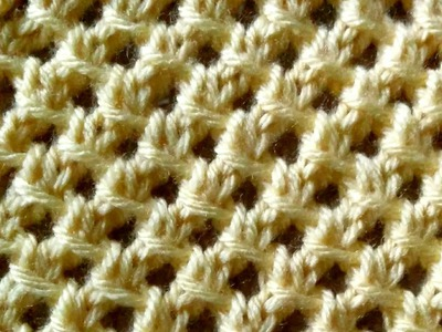 How to Knit the Irish Mesh Stitch