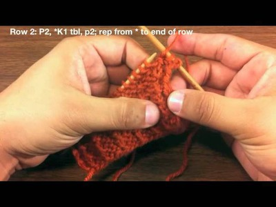 How to Knit the Shadow Rib Stitch (English Style)