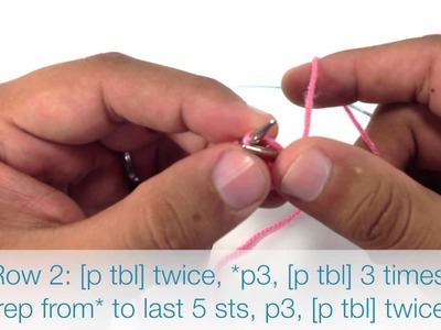 How to Knit the Simple Lace Rib Stitch