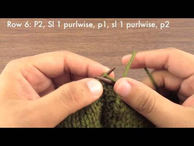 How to Knit the Slipped Double Chain Cable Stitch (English Style)