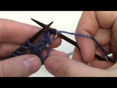 How-To: Knit with Beads (pre-strung)