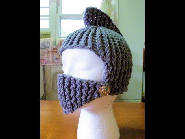 How to Loom Knit a Knight's Helmet