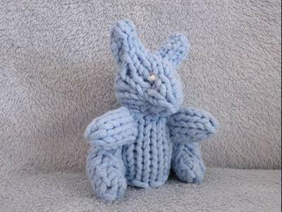 How to Loom Knit a Mini Rabbit
