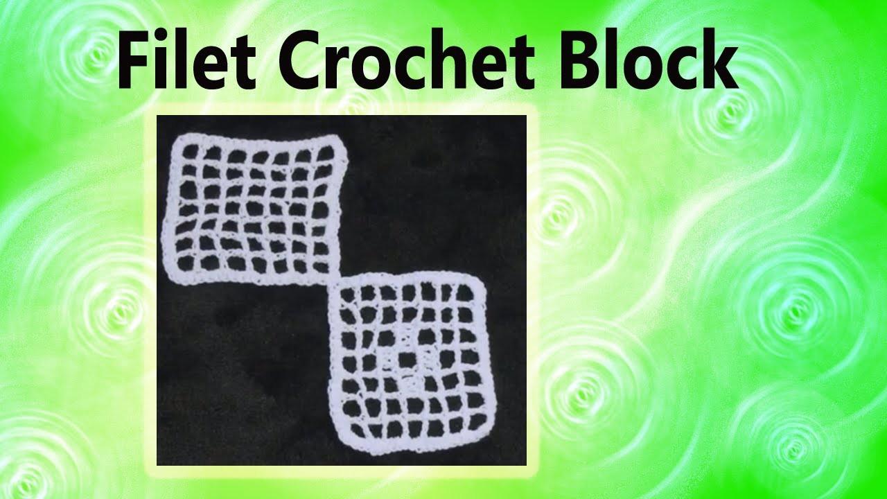 How to make a Filet Crochet Block Crochet Geek