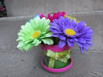 How to Make a Flower Pen Pot Craft Tutorial