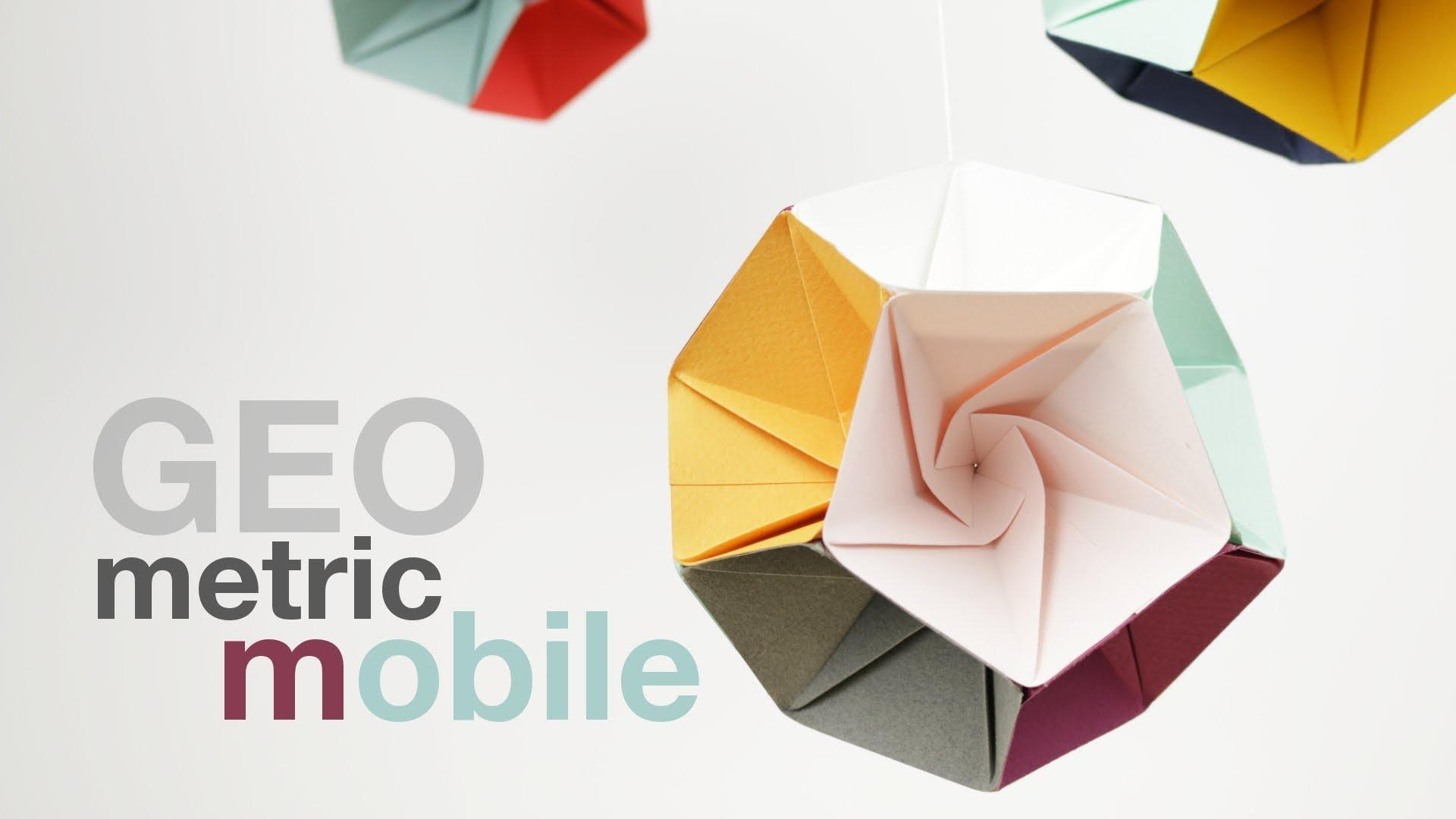 How to make a Geometric Mobile (DIY Tutorial)