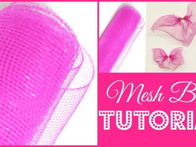 How To Make A Mesh Bow |  DIY Tutorial | #DIYMAS