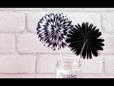 How to make a paper fan (craft tutorial)