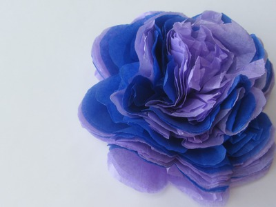 How to Make a Tissue Paper Flower Bow Embellishment Craft Tutorial