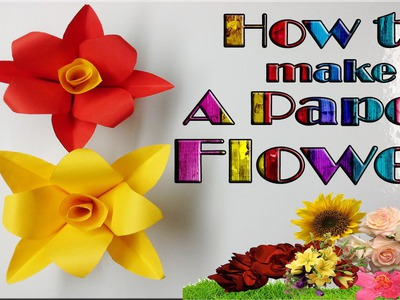 How to make a very simple paper flower (paper crafts) DIY valentine flowers