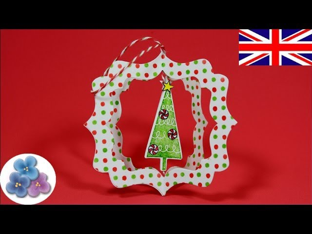 How to make Christmas Decorations *Xmas Ornaments* DIY Craft Papercrafts Ideas Scrapbook Mathie
