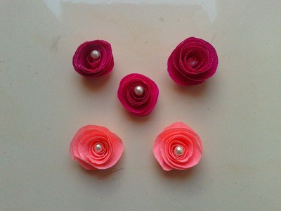 How to make DIY Crepe Paper Rose flowers: step by step Paper Craft Tutorials
