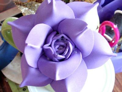 How to make foam Flower, DIY, Tutorial