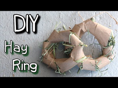 How to Make Homemade Rabbit Toy Hay Ring  DIY Tutorial