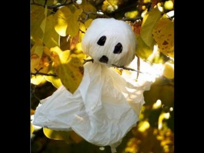 How To Make Plastic Bag Ghosts-Halloween-Craft Tutorial-