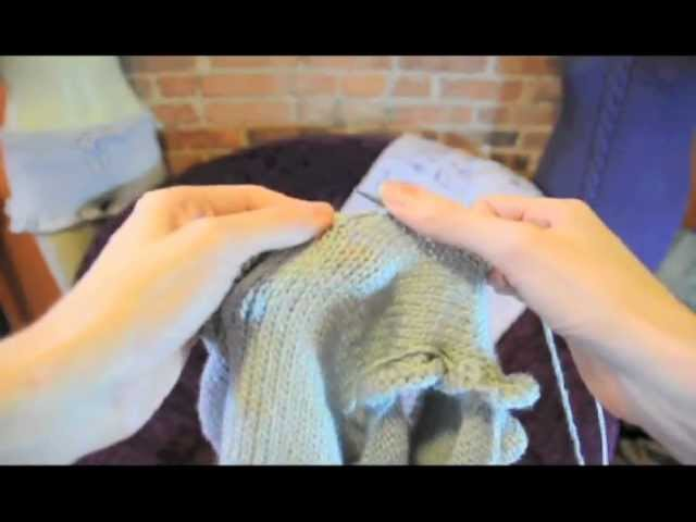 "How to ""pick up and knit"" knitting tutorial for picking up stitches"