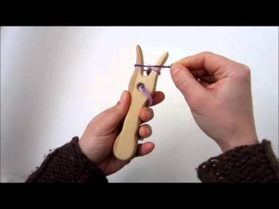 How To Use A Lucet. Knitting Fork