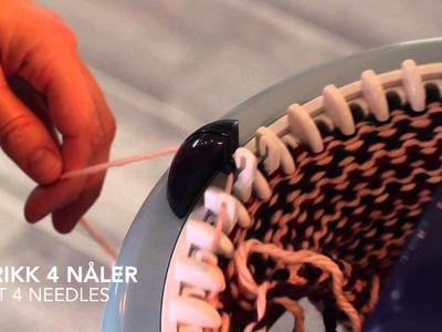 Hvordan strikke sokker (tovet). How to knit socks (felted) - Prym Maxi knitting mill