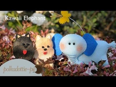 Kawaii Elephant Plush - DIY Felt Craft - PolkadottiePie Tutorial
