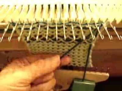 Knit weave On Manual Knitting Machines