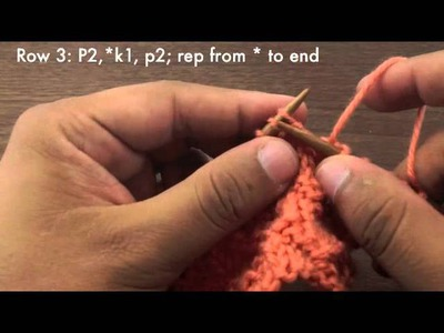 Learn How to Knit the Reverse Stockinette Chevron Stitch (English Style)