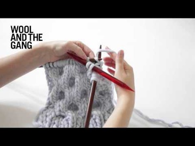 Learn To Knit Honeycomb Cables