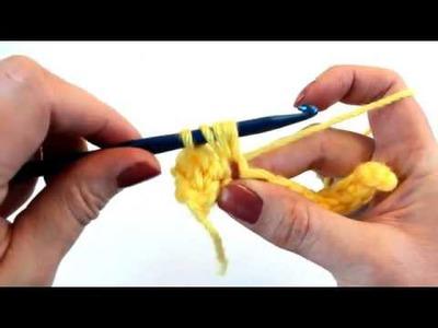 Left Hand Crochet Stitch Guide-Crochet Puff Stitch