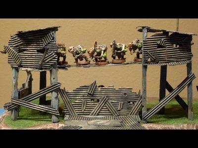 Let´s Craft #30 - Bau-Tutorial Ork Wachturm für Warhammer und andere Tabletops
