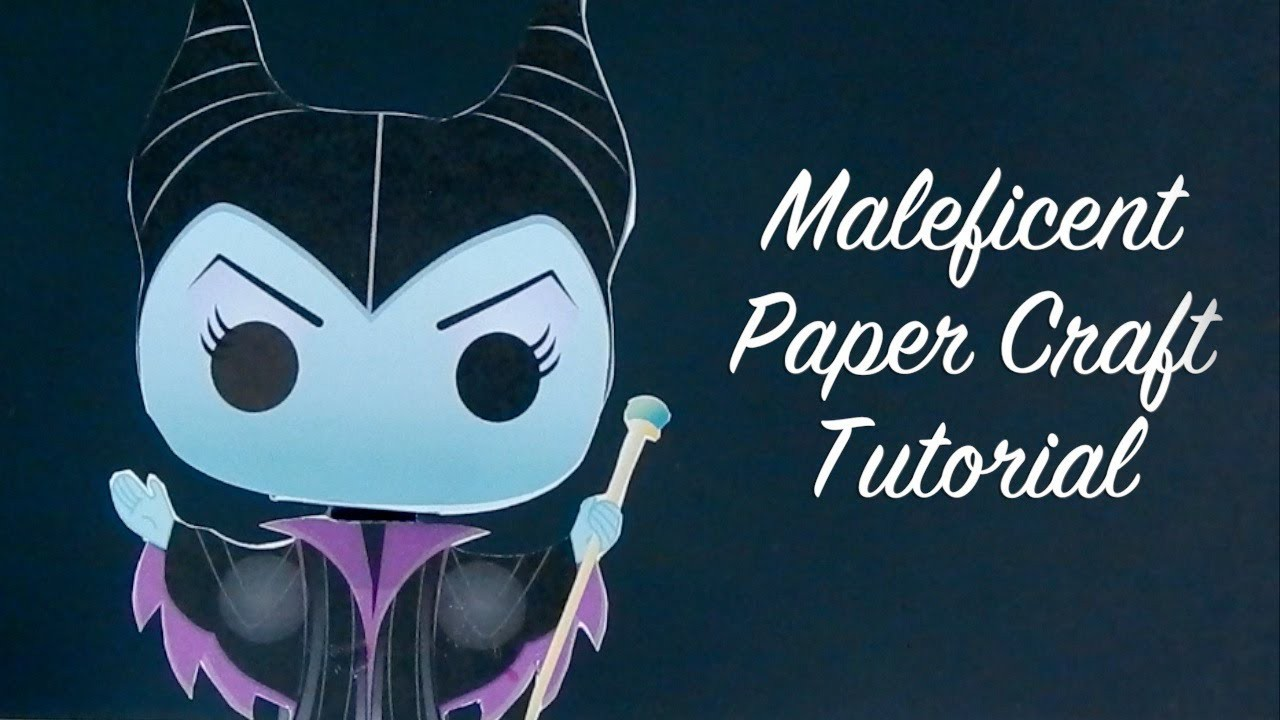 Maleficent Paper Craft Tutorial How to Make a Paper Maleficent Doll