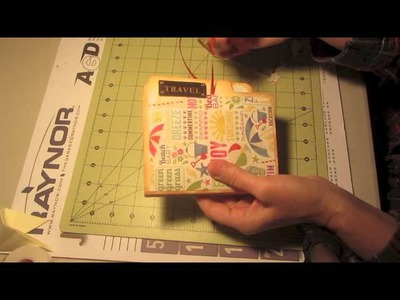 Manila File Folder Mini Album Scrapbooking Ideas Craft Tutorial