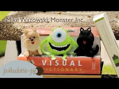Mike Wazowski Plush - DIY Felt Craft - PolkadottiePie Tutorial