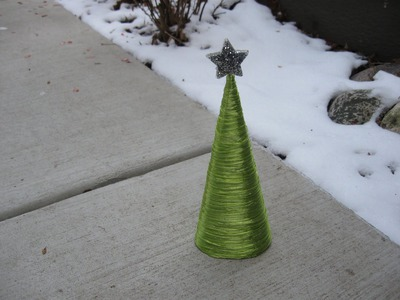Raffia Cone Christmas Tree Craft Tutorial