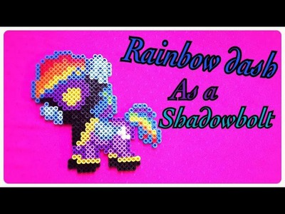 Rainbow Dash as a Shadowbolt - DIY Tutorial Perler Beads