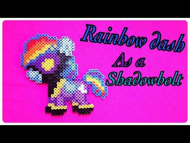 Rainbow Dash as a Shadowbolt - DIY Tutorial Perler Beads