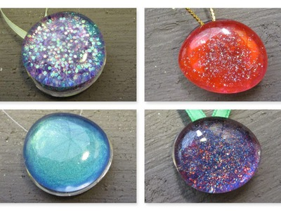 Recycled Nail Polish Stones Christmas Ornaments Craft Tutorial